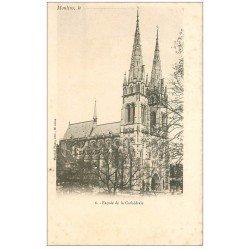 carte postale ancienne 03 MOULINS. Cathédrale la façade. Carte pionnière
