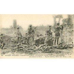 carte postale ancienne 77 MEAUX. Environs, Infanterie Anglaise cachée dans une Briquerie Guerre 1914-18