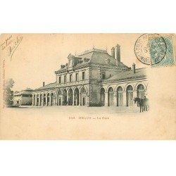carte postale ancienne 77 MEAUX. La Gare 1905