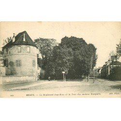carte postale ancienne 77 MEAUX. Tour anciens Remparts Boulevard Jean-Rose