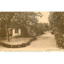 carte postale ancienne 77 MEAUX. Ancien Evêché Terrasse sur Remparts 1919
