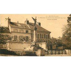 carte postale ancienne 77 MEAUX. Monument Combattants Boulevard Jean-Rose 1937