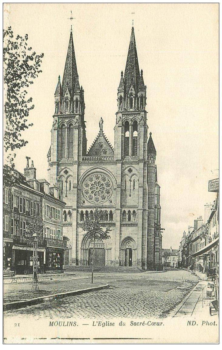 carte postale ancienne 03 MOULINS. Eglise du Sacré-Coeur. ND Phot.