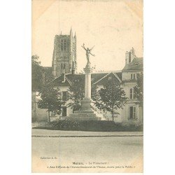 carte postale ancienne 77 MEAUX. Monument Enfants Arrondissement 1908