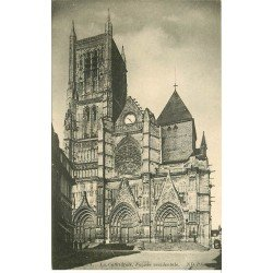 carte postale ancienne 77 MEAUX. Cathédrale façade occidentale