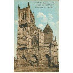 carte postale ancienne 77 MEAUX. Cathédrale Tour Nord 1935