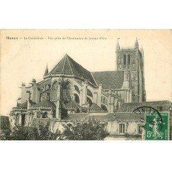 carte postale ancienne 77 MEAUX. Cathédrale vue prise Institution Jeanne d'Arc 1911