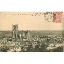 carte postale ancienne 77 MEAUX. Cathédrale vue prise de la Pépinière 1905