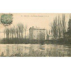 carte postale ancienne 77 MEAUX. Moulin Pommier 1906