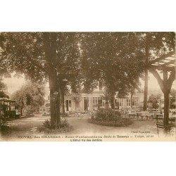 carte postale ancienne 77 AVON FONTAINEBLEAU. Hôtel des Chasses. Les Jardins