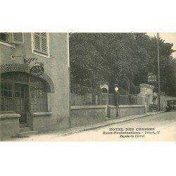 carte postale ancienne 77 AVON FONTAINEBLEAU. Hôtel des Chasses. Le Bar