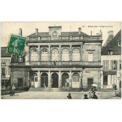 carte postale ancienne 03 MOULINS. Hôtel de Ville 1911. Horlogerie Fuselli