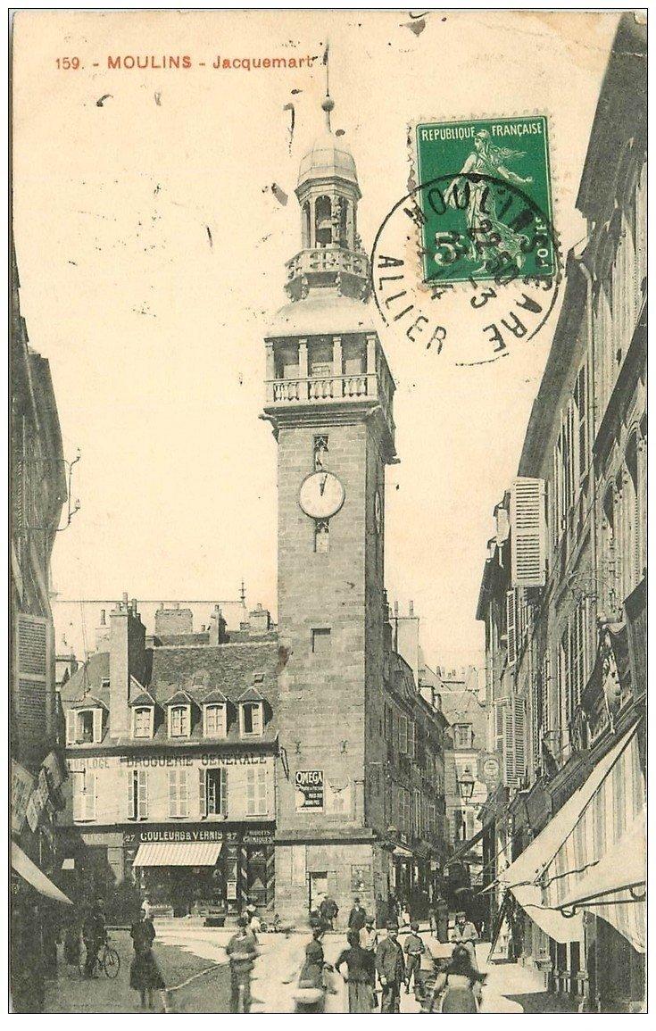 carte postale ancienne 03 MOULINS. Jacquemart 1914. Droguerie Générale