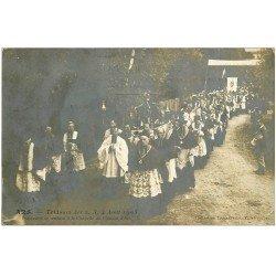 carte postale ancienne 01 Ars. Procession vers Chapelle du Château 1905. Triduum