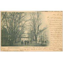 carte postale ancienne 03 MOULINS. Kiosque de la Musique Cours Préfecture 1901. Timbres Taxe