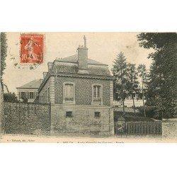 carte postale ancienne 77 MELUN. Entrée Ecole Normale des Garçons 1917