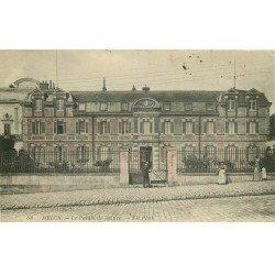carte postale ancienne 77 MELUN. Le Palais de Justice 1911