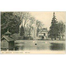 carte postale ancienne 03 MOULINS. Le Jardin Public 1913
