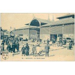 carte postale ancienne 03 MOULINS. Le Marché couvert 1924