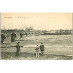 carte postale ancienne 03 MOULINS. Le Pont Régemortes 1908