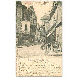 carte postale ancienne 03 MOULINS. Maison de Bois 1903. Buvette Jacquemard et Facteur