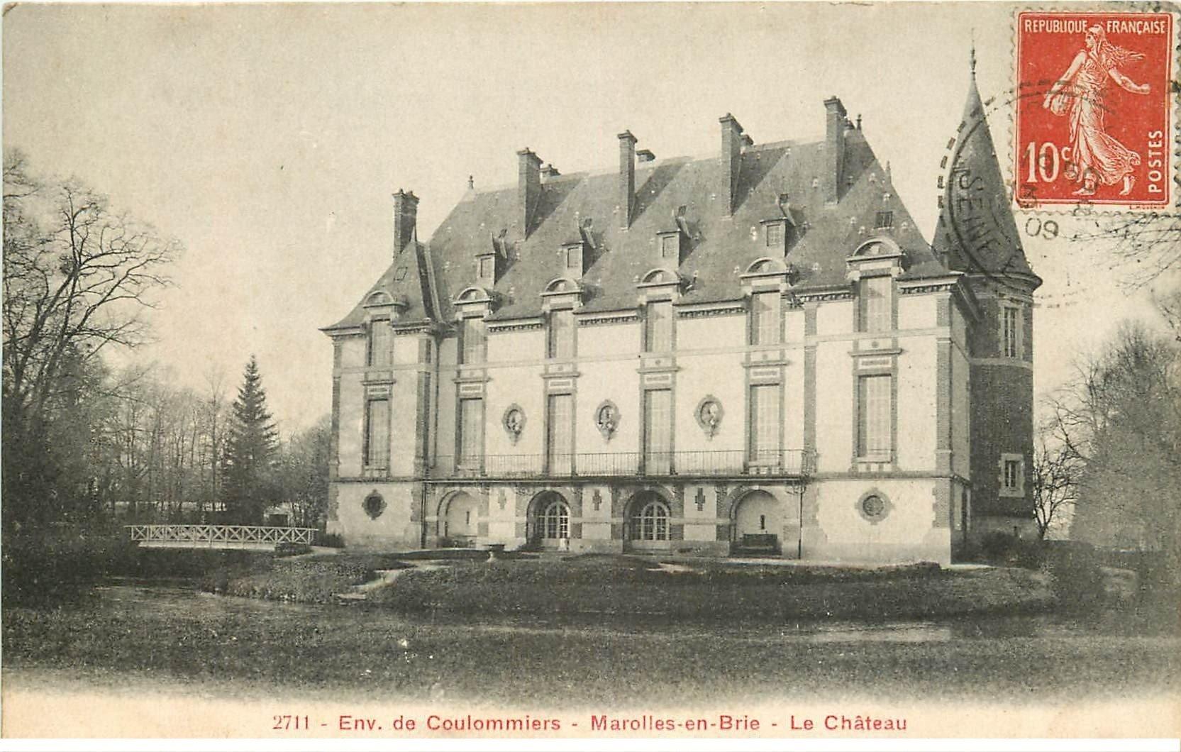 77 marolles en brie parc du ch teau 1909. Black Bedroom Furniture Sets. Home Design Ideas