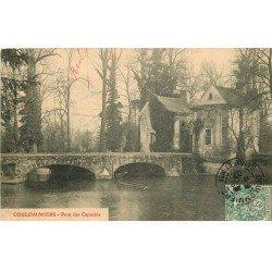 carte postale ancienne 77 COULOMMIERS. Les Capucins le Pont 1907
