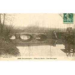 carte postale ancienne 77 COULOMMIERS. Pont Boulogne