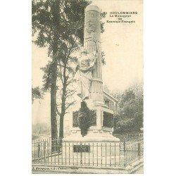 carte postale ancienne 77 COULOMMIERS. Monument du Souvenir Français