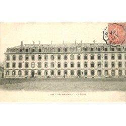 carte postale ancienne 77 COULOMMIERS. La Caserne 1906