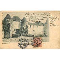 carte postale ancienne 77 COULOMMIERS. Ses environs, Ferme de l'Aunoy-Renault 1906 avec Cycliste