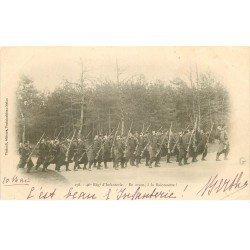 carte postale ancienne 77 FONTAINEBLEAU. 46° Régiment d'Infanterie en avant à la Baïonnette 1903