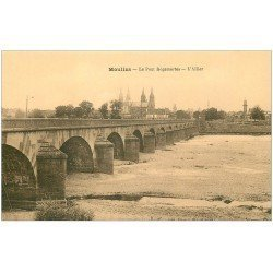 carte postale ancienne 03 MOULINS. Pont Régemortes l'Allier