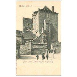 carte postale ancienne 03 MOULINS. Prison ancien Château. Carte Pionnière