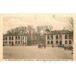 carte postale ancienne 77 FONTAINEBLEAU. 306° Artillerie Salle des Rapports et d'Honneur 1932