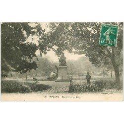 carte postale ancienne 03 MOULINS. Square de la Gare 1916. Enfant cerceau