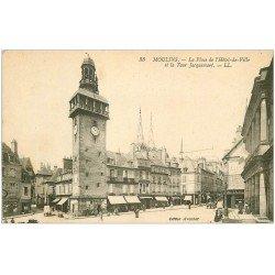 carte postale ancienne 03 MOULINS. Tour Jacquemart Place Hôtel de Ville