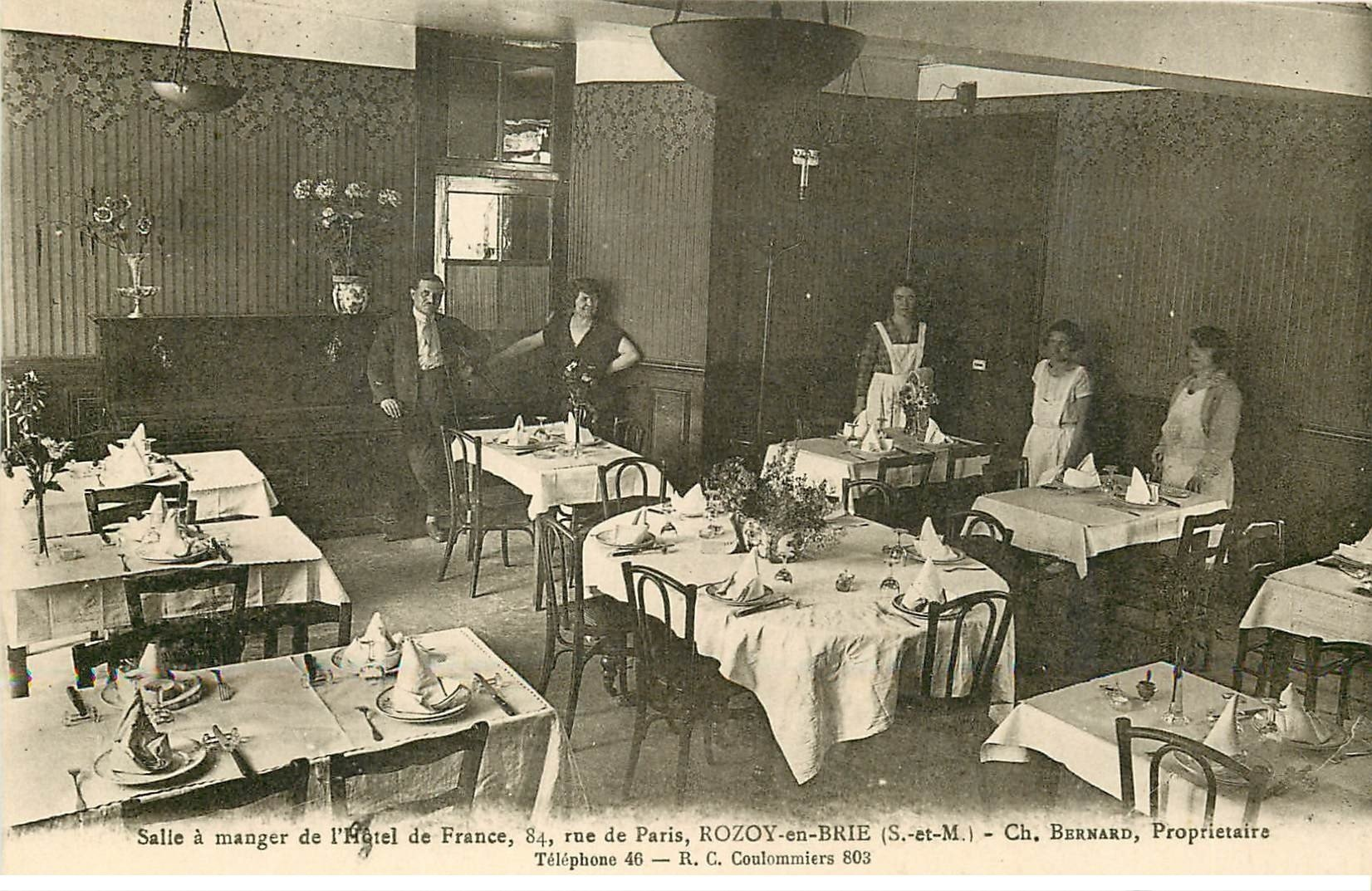 77 rozay rozoy en brie h tel de france salle manger 84 for Carte de france hotel