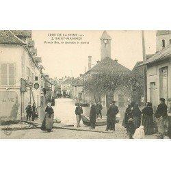 77 SAINT-MAMMES. Grande Rue en attendant le Passeur. Crue de 1910 et Restaurant Au Bon Coin. A la Tricoteuse à Marseille