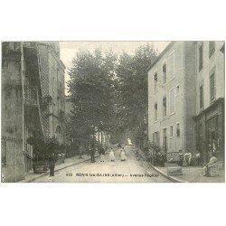 carte postale ancienne 03 NERIS-LES-BAINS. Avenue Régnier 1917 Villa de la Paix