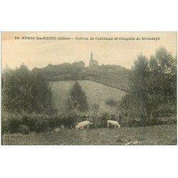 carte postale ancienne 03 NERIS-LES-BAINS. Colline de Créchaux et Chapelle St-Joseph