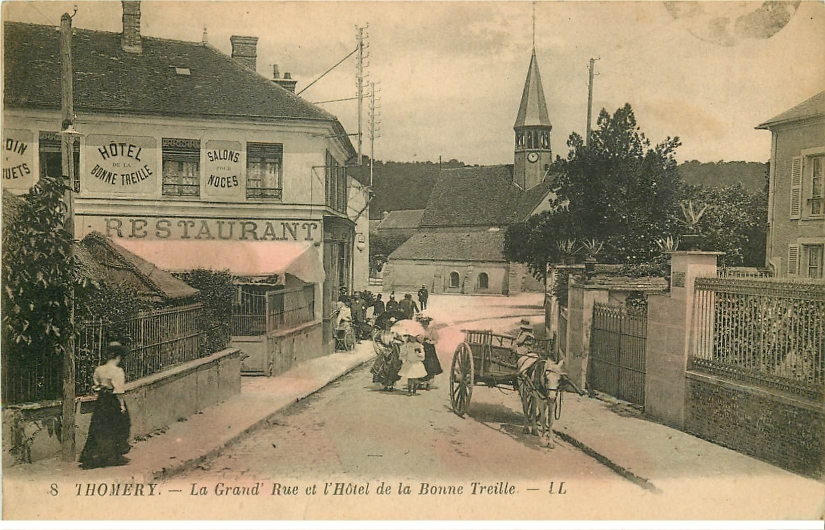 77 Thomery  H U00f4tel Bonne Treille Sur Grand U0026 39 Rue 1929