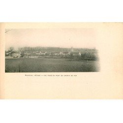 carte postale ancienne 77 VERNEUIL L'ETANG. Vue prise du Chemin de Fer vers 1900