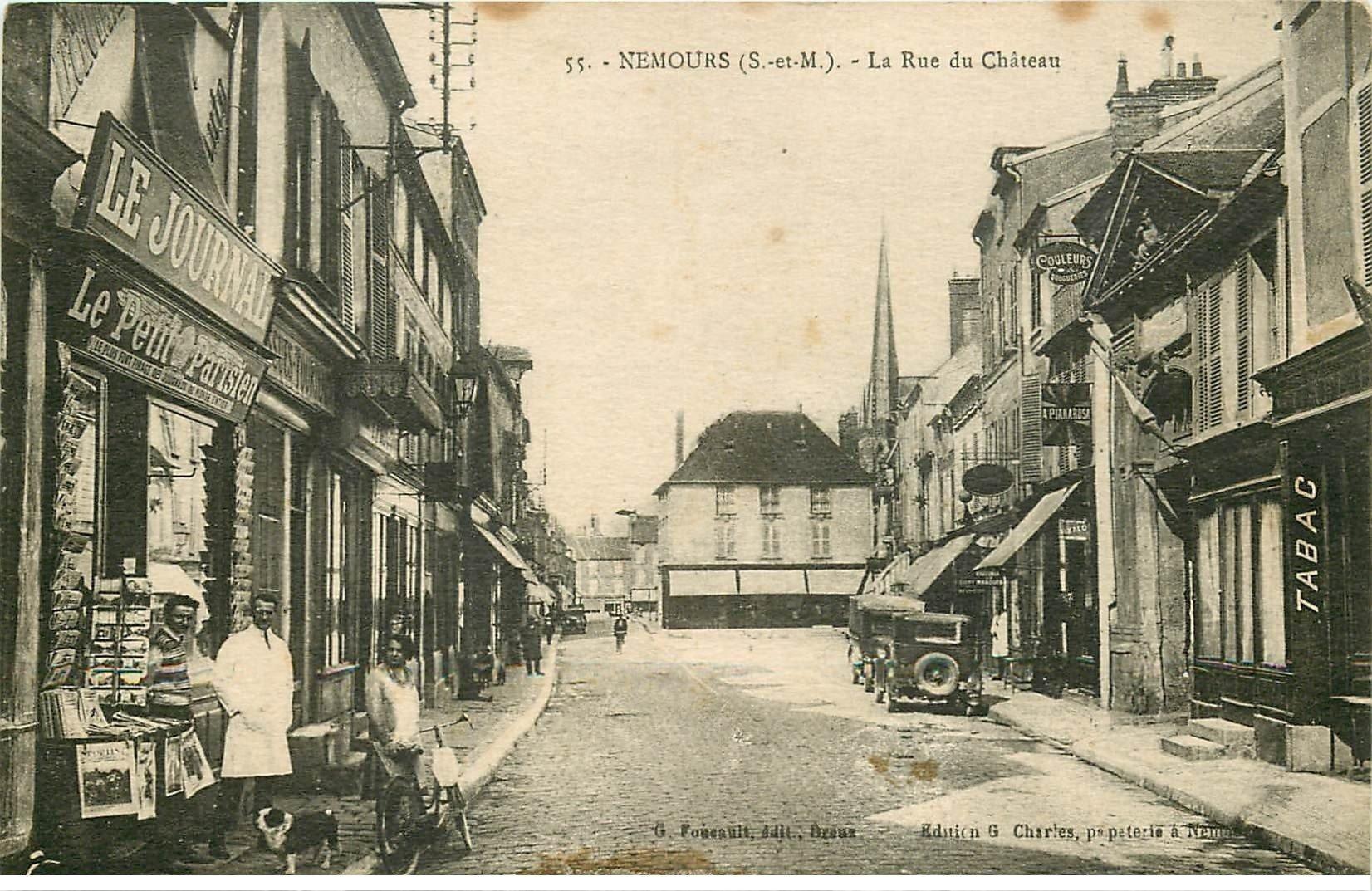 77 nemours rue du ch teau magasin de cartes postales calendrier 1935 au verso. Black Bedroom Furniture Sets. Home Design Ideas