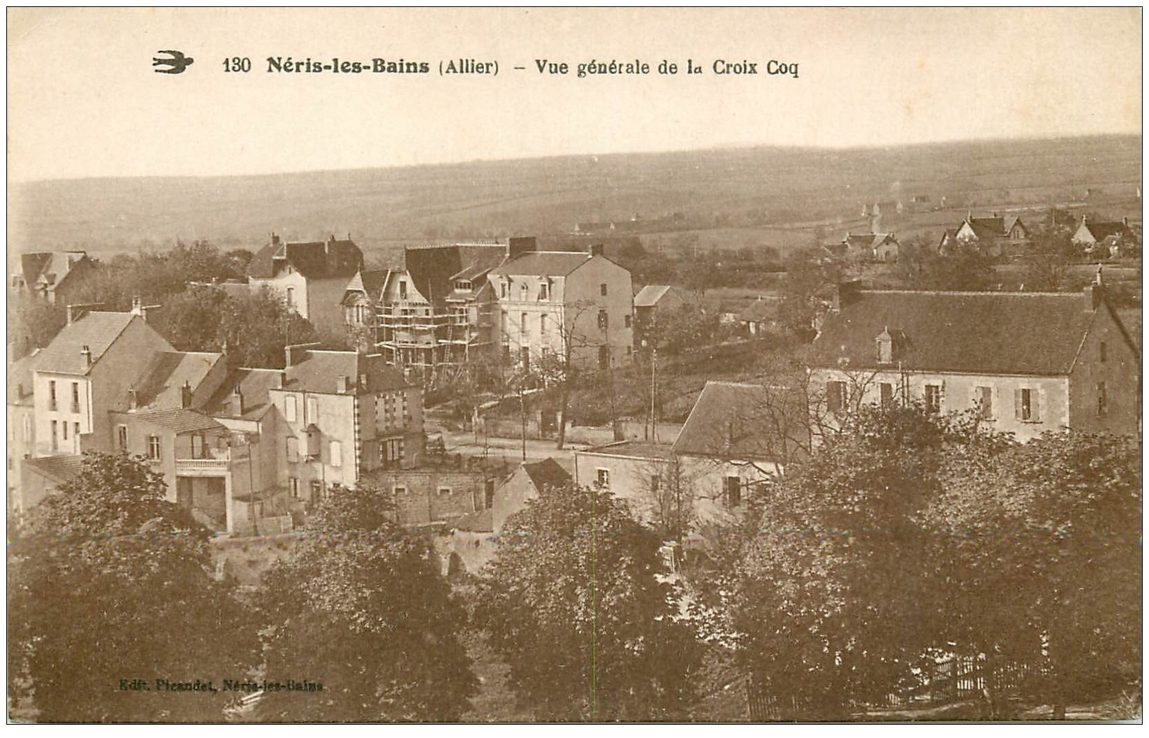 carte postale ancienne 03 NERIS-LES-BAINS. La Croix Coq