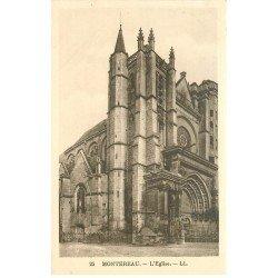 carte postale ancienne 77 MONTEREAU. Eglise