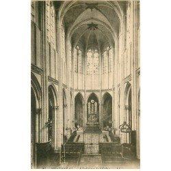 carte postale ancienne 77 MONTEREAU. Eglise intérieur 1924