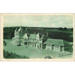 carte postale ancienne 03 NERIS-LES-BAINS. La Gare 1937