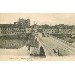 carte postale ancienne 77 MONTEREAU. Pont de l'Yonne
