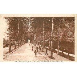 carte postale ancienne 77 MONTEREAU. Promenade de Noue Boulevard Leboeuf de Mont-Germont